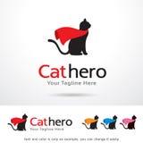 Vector de Cat Hero Logo Template Design Fotos de archivo libres de regalías