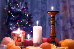 Vector de cena adornado de la Navidad Imagen de archivo libre de regalías