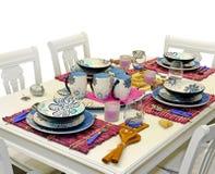 Vector de cena mediterráneo Fotografía de archivo libre de regalías