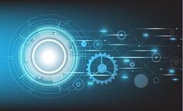 Vector de cirkel en de technologieconcepten van technologie Royalty-vrije Stock Foto