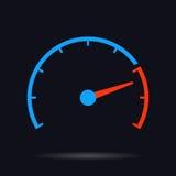 Vector de cirkelillustratie van de snelheidstest Stock Fotografie