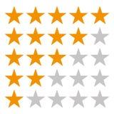 vector de clasificaci?n de cinco estrellas eps10 del icono Vector anaranjado de clasificaci?n eps10 de la estrella de la estrella ilustración del vector