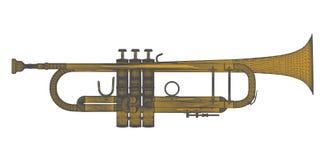 Vector de cobre amarillo 01 de la trompeta Foto de archivo libre de regalías