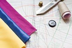 Vector de costura Fotos de archivo libres de regalías