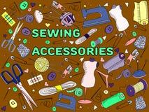 Vector de costura de los accesorios Fotografía de archivo libre de regalías