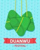 Vector de cultuur Chinees ontwerp van Duanwufestiva Royalty-vrije Stock Afbeeldingen