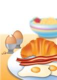 Vector de desayuno puesto receptor de papel Imagen de archivo libre de regalías