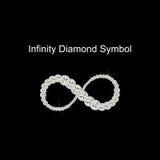 Vector de Diamond Symbol del infinito Imagen de archivo