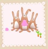Vector de douchekaart van het babymeisje Royalty-vrije Stock Fotografie