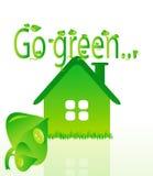 Vector de ecologie groen huis van Beautifull Royalty-vrije Stock Foto's
