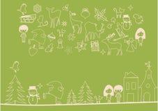 Vector - de elementen van Kerstmis Stock Afbeelding