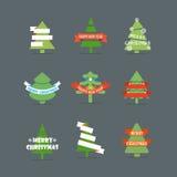 Vector de elementeninzameling van het Kerstmisseizoen Stock Afbeelding