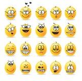 De vector stemmingen van smileyemoties Stock Foto