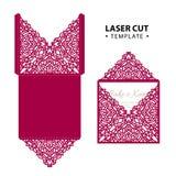 Vector de envelopkaart van de laserbesnoeiing met abstract ornament Royalty-vrije Stock Afbeeldingen