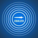 Vector de Equaliserachtergrond van de Impulsmuziek Audiogolfequaliser Stock Afbeelding