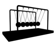Vector de equilibrio 01 de la horquilla de las bolas del metrónomo del metal Fotos de archivo libres de regalías