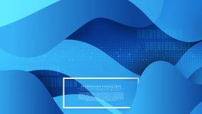Vector de espacio abstracto moderno de la copia de la plantilla del fondo de la conexión de la tecnología fotos de archivo libres de regalías