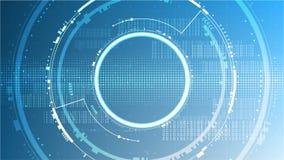 Vector de espacio futurista de la copia de la plantilla del fondo del ciberespacio del sistema abstracto de la tecnología imágenes de archivo libres de regalías