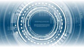 Vector de espacio interactivo de la copia de la plantilla del fondo del ciberespacio abstracto futurista del hardware de la tecno fotografía de archivo libre de regalías