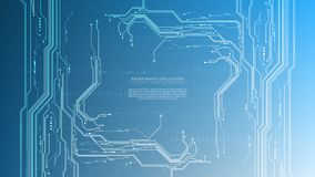 Vector de espacio interactivo de la copia de la plantilla del fondo del ciberespacio futurista del sistema abstracto de la tecnol fotografía de archivo libre de regalías