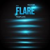Vector de Gloedeffect van de Zonlens Transparant Vectorfl van de Bekledingslens Stock Afbeeldingen