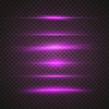 Vector de Gloedeffect van de Zonlens Transparant Vectorfl van de Bekledingslens Stock Fotografie