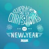 Vector de groetkaart van Kerstmis Royalty-vrije Stock Foto