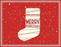 Vector de groetkaart van Kerstmis Stock Afbeeldingen