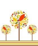 Vector de herfstachtergrond royalty-vrije illustratie