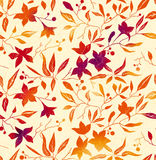 Vector de herfstachtergrond Stock Afbeelding