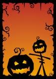 Vector de illustratieachtergrond van Halloween Royalty-vrije Stock Afbeelding