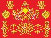 Vector de Illustratiebatik van het Dayak Traditionele Element Royalty-vrije Stock Afbeeldingen