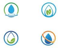 Vector de illustratieontwerp van Logo Template van de waterdaling stock illustratie