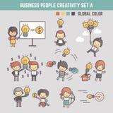 Vector de illustratieoverzicht c creativiteit van het bedrijfsmensenconcept royalty-vrije illustratie