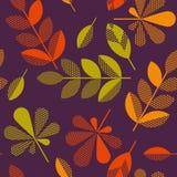 Vector de illustratiesamenvatting van de herfstbladeren Stock Foto