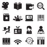 Vector de illustratiesymbool 2 van bibliotheekpictogrammen Stock Afbeelding