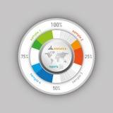Vector de Infographics del negocio Fotos de archivo libres de regalías