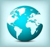 vector de kaartpictogram van de bolwereld Stock Foto's