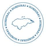 Vector de kaartsticker van Honduras Stock Foto's