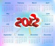 Vector de kalender 2012 jaar van de Kerstman vector illustratie