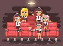 Vector de karakterskinderen van het illustratiebeeldverhaal, klasgenoten die, leerlingen, schooljongens, schoolmeisjes, jongens,  vector illustratie