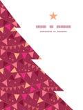 Vector de Kerstboomsilhouet van decoratievlaggen Royalty-vrije Stock Afbeelding