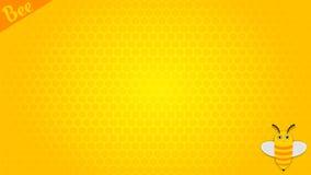 Vector de la abeja de la historieta del modelo del papel pintado Fotos de archivo libres de regalías