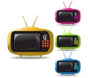 Vector de la animación de algunas televisiones Imágenes de archivo libres de regalías