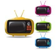 Vector de la animación de algunas televisiones Imagen de archivo