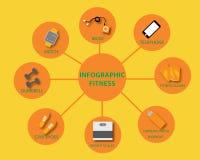 Vector de la aptitud de Infographics Fotografía de archivo libre de regalías