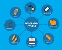 Vector de la aptitud de Infographics Fotos de archivo