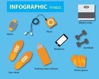 Vector de la aptitud de Infographics Imágenes de archivo libres de regalías