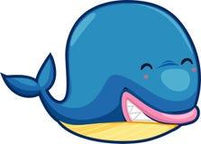 Vector de la ballena Imagen de archivo libre de regalías