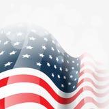 Vector de la bandera americana stock de ilustración